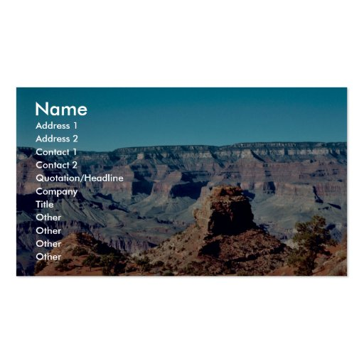 Grand Canyon National Park Pack Of Standard Business Cards