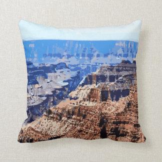 Grand Canyon National Park Retro Design Throw Pillow