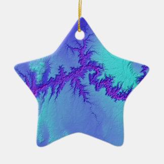 Grand Canyon of Arizona- Bright Nebula Style Ceramic Ornament