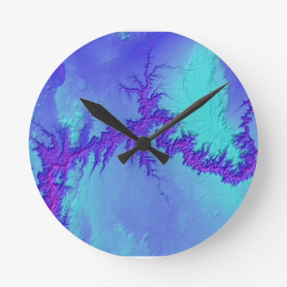 Grand Canyon of Arizona- Bright Nebula Style Round Clock
