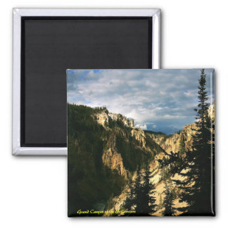 Grand Canyon of the Yellowstone Square Magnet
