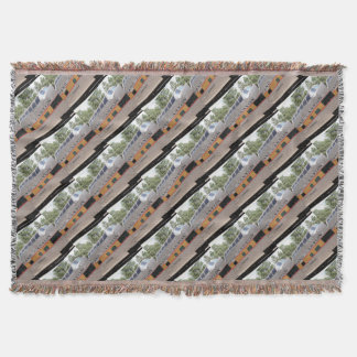 Grand Canyon Railway carriage, Arizona Throw Blanket