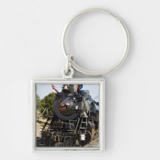 Grand Canyon Railway steam engine 4960 Silver-Colored Square Keychain