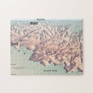 Grand Canyon South Rim map puzzle