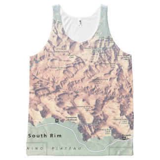 Grand Canyon South Rim map unisex