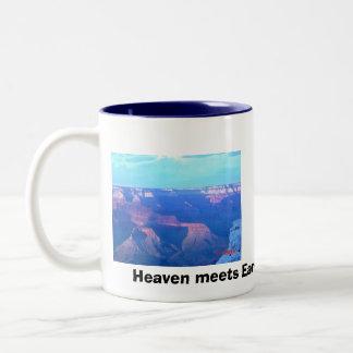 Grand Canyon South Rim, South Rim, Heaven meets... Two-Tone Coffee Mug