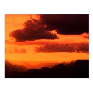 Grand Canyon Sunset Postcard