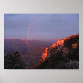 Grand Canyon Sunset Rainbow Print