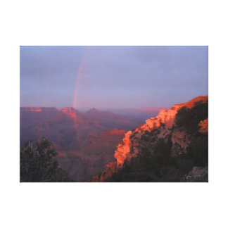 Grand Canyon Sunset Rainbow Wrapped Canvas