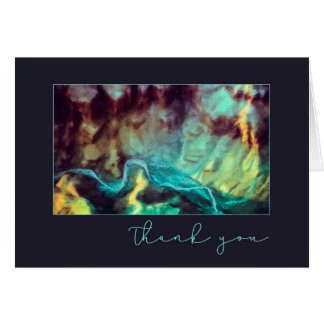 Grand Canyon Turquoise Abstract Blank Thank You Card