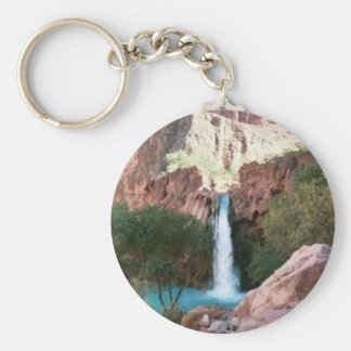 Grand Canyon Water Falls, Basic Button Keychain