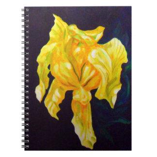 Grand CARNET d'iris jaune