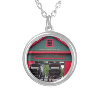 Grand Carriages I Silver Plated Necklace
