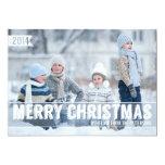 Grand carte photo moderne audacieux de Joyeux Noël Carton D'invitation 12,7 Cm X 17,78 Cm