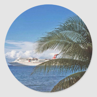 Grand Cayman Classic Round Sticker