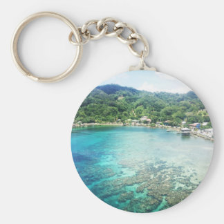 Grand Cayman Coral Reef Basic Round Button Keychain