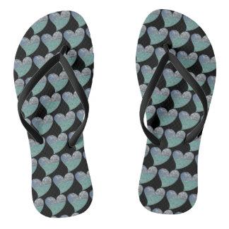 Grand Cayman Heart Flip Flops
