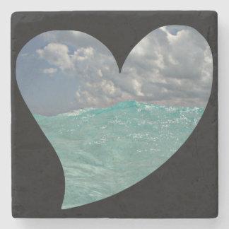 Grand Cayman Heart Stone Coaster