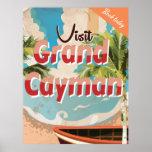 Grand Cayman Vintage Travel Poster