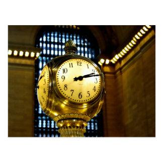 Grand Central Clock Postcard