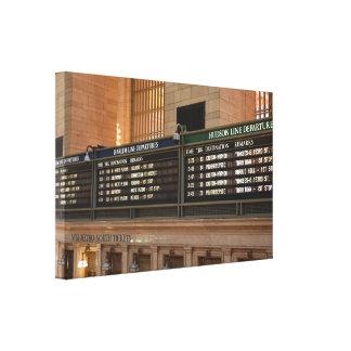 Grand Central Hudson Harlem Train Departures NYC Canvas Print