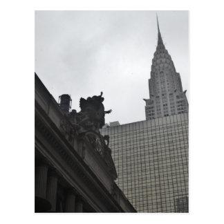 Grand Central Station and Chrysler Building Postcard
