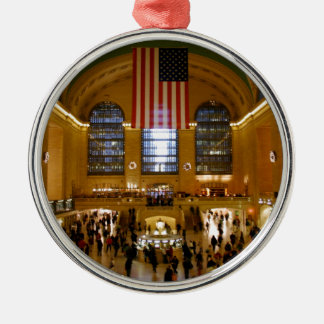 Grand Central Station New York Silver-Colored Round Ornament