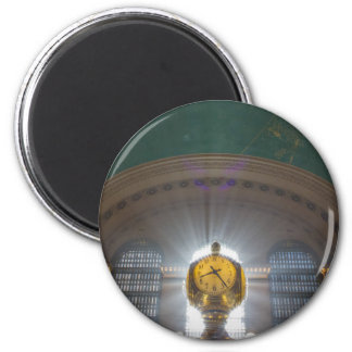 Grand Central Terminal Clock 2 Inch Round Magnet
