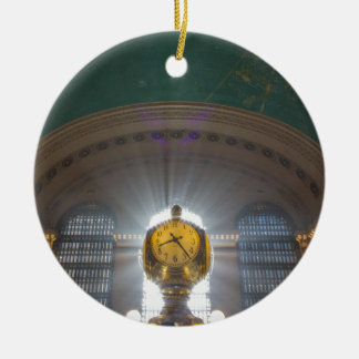Grand Central Terminal Clock Round Ceramic Ornament