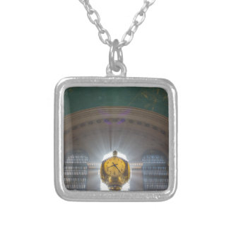 Grand Central Terminal Clock Silver Plated Necklace