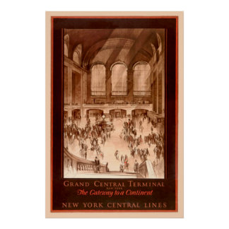 Grand Central Terminal Vintage Poster