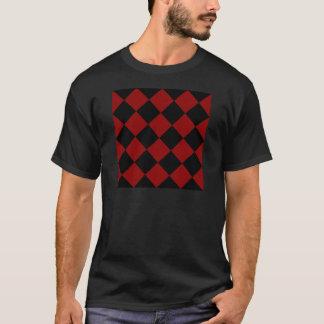 Grand Checkered de Diag - noir et rouge foncé T-shirt
