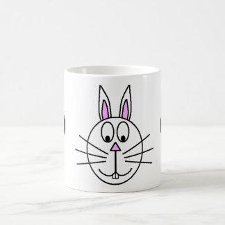 Grand dessin blanc de bande dessinée de lapin mugs