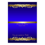 Grand Duchess Blue Gold Scroll Table Placecard Business Card Templates