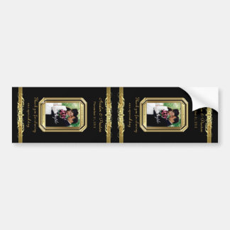 Grand Duchess Gold Scroll Large Black Wine Label