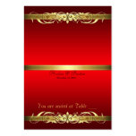 Grand Duchess Red & Gold Scroll Table Placecard Business Card