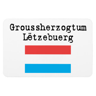 Grand Duchy of Luxembourg flexible magnet