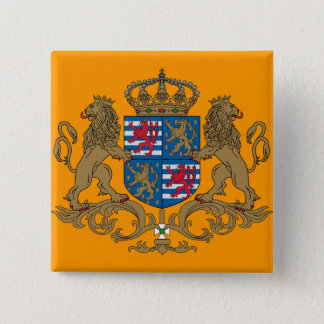 Grand Duke Of Luxembourg, Luxembourg flag 2 Inch Square Button