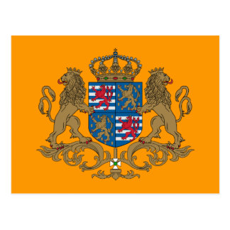 Grand Duke Of Luxembourg, Luxembourg flag Postcard