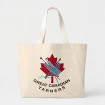 Grand ÉLÉPHANT fourre-tout de Yarners de Canadien Sac En Toile Jumbo