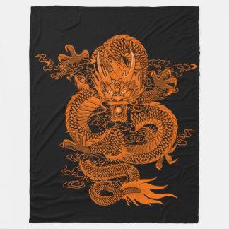 Grand Emperor Sun Dragon Fleece Blanket