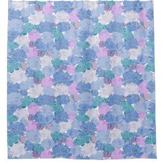 Grand floral violet bleu