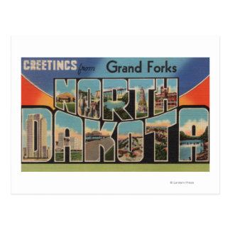 Grand Forks, North Dakota - Large Letter Postcard