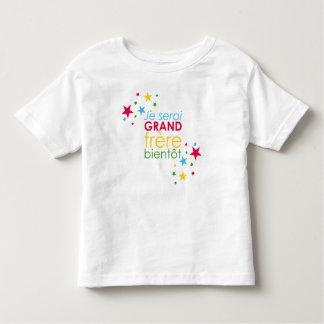 Grand frère bientôt étoile t-shirt pour les tous petits