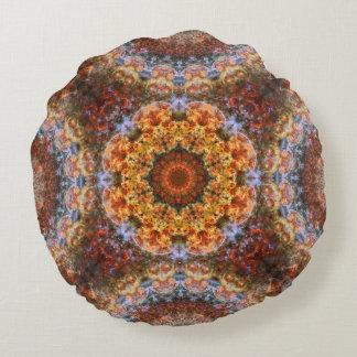 Grand Galactic Alignment Mandala Round Pillow