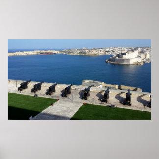 Grand Harbor in Malta Poster