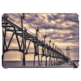 Grand Haven lighthouse and pier, Grand Haven Cover For iPad Air