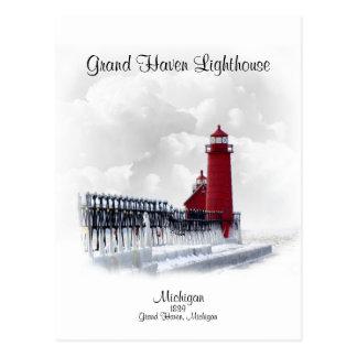 Grand Haven Lighthouse- Michigan Postcard