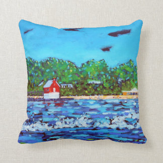 Grand Haven Lighthouse Pillow