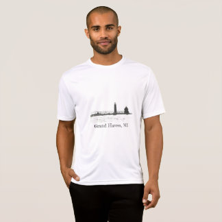 Grand Haven Lighthouse Sketch T-Shirt